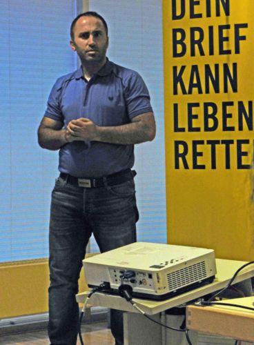 Issa Amro in Frankfurt