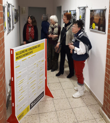 Ausstellungseröffnung 70 Jahre Allgemeine Erklärung der Menschenrechte