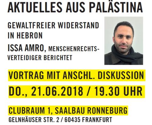 Veranstaltungsankündigung Issa Amro