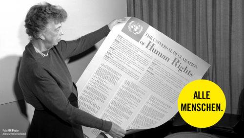 Eleanor Roosevelt Allgemeine Erklärung der Menschenrechte